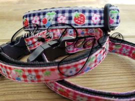"Maat 3 - Puppy-Bandjes 12mm ""Strawberry"""