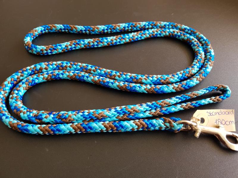 Standaardlijn 150 cm - Kobalt/Turquoise/Bruin