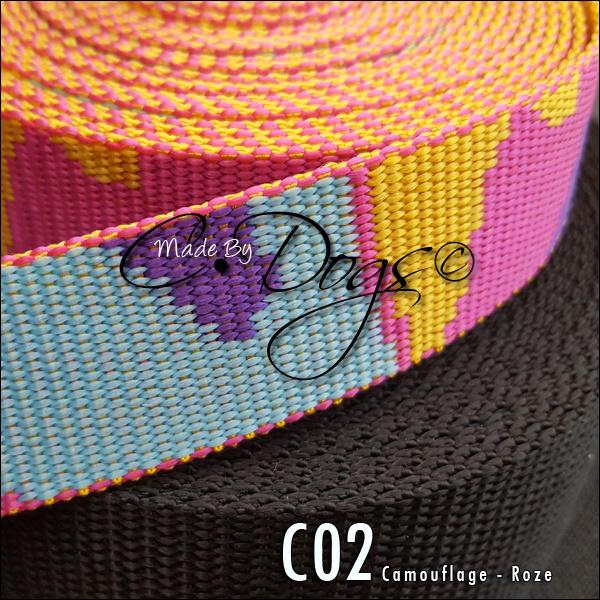 C02 - Camouflage Roze | per meter