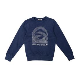 DJ Dutchjeans sweater indigo blauw - Deep oceans