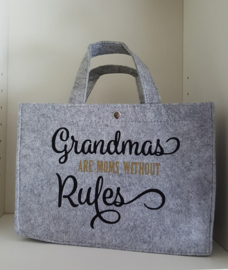 Vilten shoppingtas ♥ Grandmas without rules