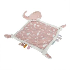 Little Dutch knuffeldoek walvis - Ocean pink