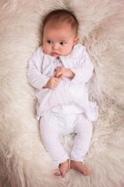 Dirkje 3 pce babysuit jurkje wit - so soft happy and joyful