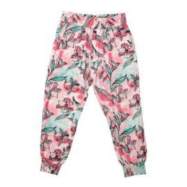 DJ Dutchjeans harem broek aop light pink - Love my life