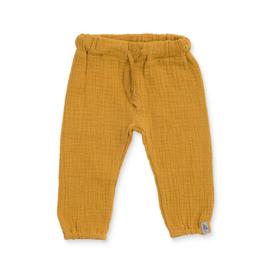Jollein - Broek Wrinkled cotton mustard