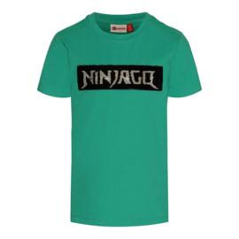 Lego Wear - Green melange T-shirt pailetten , Lego Ninjago