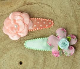 Haarknipje ♥ pastel bloemetjes
