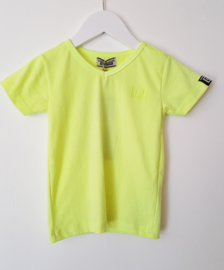 DJ Dutchjeans t-shirt sunset beach FLuo geel