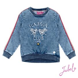 Jubel - sweater Fun & Sun Club indigo blauw  Funbird
