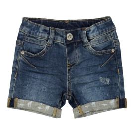Dirkje baby jeans short blue - Wanted and wild