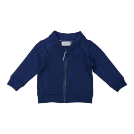 Dirkje baby cardigan indigo blue - So soft king of the sea