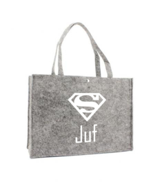 Vilten shoppingtas ♥ Super Juf