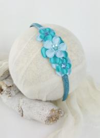 Diadeem ♥ Bloemen pracht - blauw