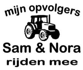 "Autosticker ""tractor"""
