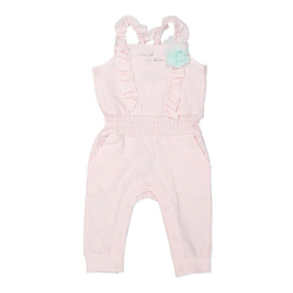 Dirkje baby jumpsuit light pink stripe - SO SOFT ONE OF A KIND