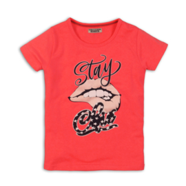 DJ Dutchjeans neon roze t-shirt Stay Chic