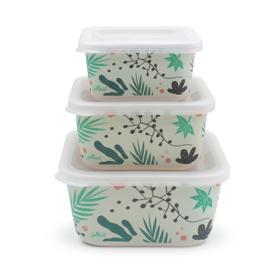 Jollein - Snackbox bamboe Leaves (3pcs)