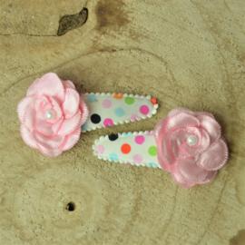 Haarknipje ♥ multi kleur - roze