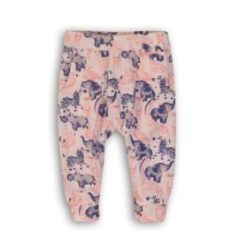 Dirkje - baby legging roze AOP diertjes