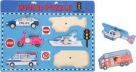 Legpuzzel met voertuiggeluiden