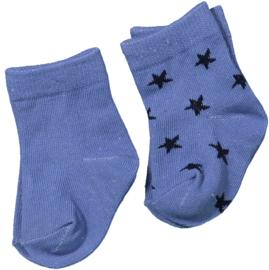 Dirkje - 2 paar baby sokjes kobaltblauw & ster