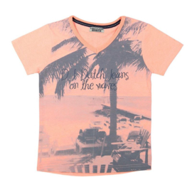 DJ Dutchjeans t-shirt ss v-neck - Adventurous journey