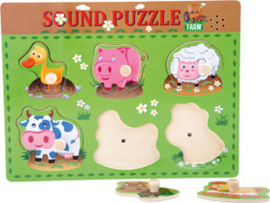 Legpuzzel met dierengeluiden
