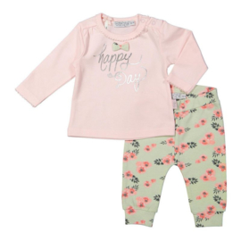 Dirkje 2 pce baby setje light pink - mint aop - So soft happy day