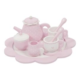 Little Dutch houten theeservies pink