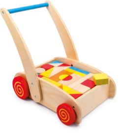 Loopwagen speelblokken