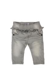 Dirkje grijze jeans ruches mt 92