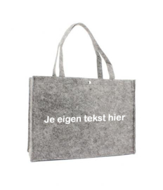 Vilten shoppingtas ♥ eigen tekst