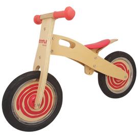 Playwood - Loopfiets rood Simply met anti-lek banden