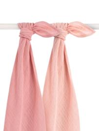 Jollein - Bamboe Multidoek large 115x115cm Pale pink (2pack)