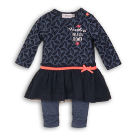 Dirkje 2 pce baby setje navy melee - So bright feathers