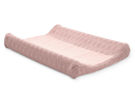 Waskussenhoes 50x70cm River knit pale pink