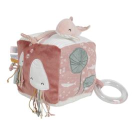 Little Dutch activiteitenkubus walvis - Soft Ocean pink