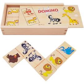 Playwood - Domino spel wilde dieren