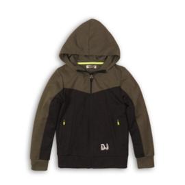 DJ Dutchjeans jongens jogging vest - army green, black