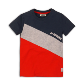DJ Dutchjeans t-shirt - red/navy/grey melee