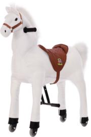 Wit rijdend paard