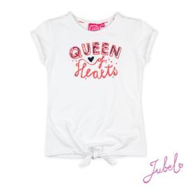 Jubel - T-shirt Queen wit Funbird