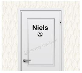 Deur sticker - naam voetbal