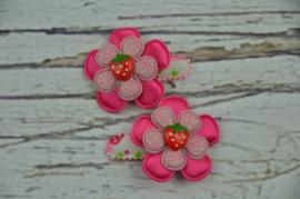 Haarknipje ♥ Aardbei roze