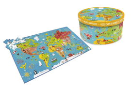 Scratch - Legpuzzel XXL - Wereldkaart