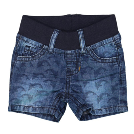 Dirkje baby jeans short blue - So king of the sea