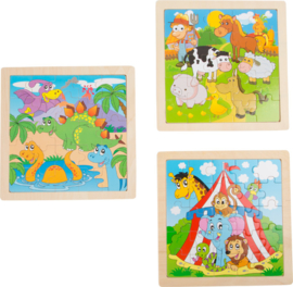 Set van 3 puzzels - Animals