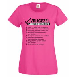 T-shirt vrouw - Checklist Vrijgezellen
