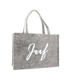 Vilten shoppingtas ♥ Juf