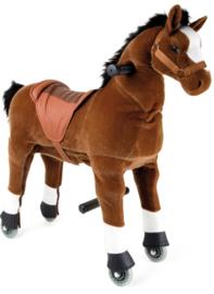 Bruin rijdend paard klein
